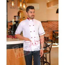 لباس آشپزی ، روپوش آشپزی کیمیا ، لباس فرم رستورانی KIMIYA مدل کلاسیک