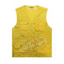 کاور تبلیغاتی زرد ، جلیقه تبلیغاتی زرد پرشین مدل شش جیب