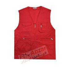 جلیقه تبلیغاتی پرشین مدل شش جیب رنگ قرمز
