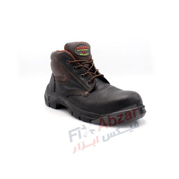 نوک ، بخش کناری و بخش رویی کفش ایمنی فرزین مدل کاوه