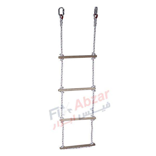 نردبان طنابی با پایه چوبی