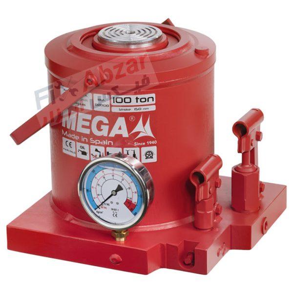 جک روغنی 100 تن گیج دار مگا MEGA مدل MGD-100